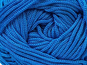 Width is 2-3 mm Fiber Content 100% Polyester, Brand Ice Yarns, Blue, fnt2-21648