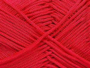 Width is 2-3 mm Fiber Content 100% Polyester, Red, Brand Ice Yarns, fnt2-21650