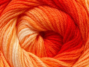 Fiber Content 100% Acrylic, Yellow, Red, Orange, Brand Ice Yarns, Yarn Thickness 3 Light  DK, Light, Worsted, fnt2-22020