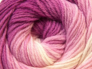 Fiber Content 100% Acrylic, White, Pink, Brand Ice Yarns, Fuchsia, Yarn Thickness 3 Light  DK, Light, Worsted, fnt2-22022