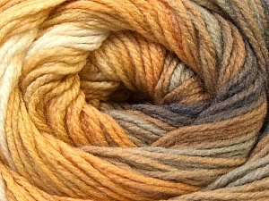 Fiber Content 100% Acrylic, Yellow, White, Brand Ice Yarns, Grey, Camel, Yarn Thickness 3 Light  DK, Light, Worsted, fnt2-22027
