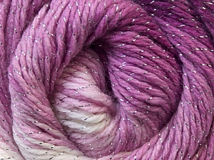 Fiber Content 95% Acrylic, 5% Lurex, Pink Shades, Brand Ice Yarns, Yarn Thickness 3 Light  DK, Light, Worsted, fnt2-22374