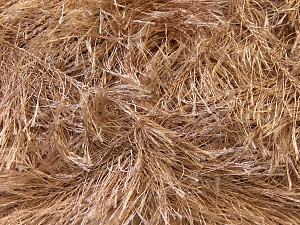 Fiber Content 100% Polyester, Light Camel, Brand Ice Yarns, Yarn Thickness 5 Bulky  Chunky, Craft, Rug, fnt2-22705
