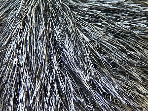 Fiber Content 100% Polyester, White, Brand Ice Yarns, Black, Yarn Thickness 5 Bulky  Chunky, Craft, Rug, fnt2-22748