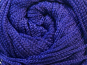 Width is 2-3 mm Fiber Content 100% Polyester, Purple, Brand Ice Yarns, fnt2-22903