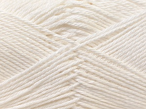 Fiber Content 100% Mercerised Cotton, White, Brand Ice Yarns, Yarn Thickness 2 Fine  Sport, Baby, fnt2-23322