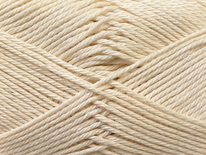 Fiber Content 100% Mercerised Cotton, Brand Ice Yarns, Cream, Yarn Thickness 2 Fine  Sport, Baby, fnt2-23323