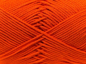Fiber Content 100% Mercerised Cotton, Orange, Brand Ice Yarns, Yarn Thickness 2 Fine  Sport, Baby, fnt2-23326