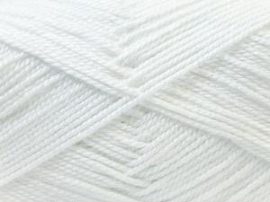 Fiber Content 100% Acrylic, White, Brand Ice Yarns, Yarn Thickness 2 Fine  Sport, Baby, fnt2-23780