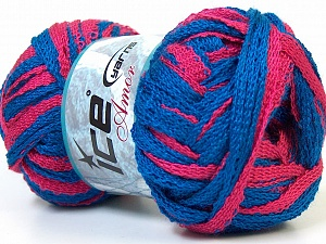 Fiber Content 100% Acrylic, Pink, Brand Ice Yarns, Blue, Yarn Thickness 6 SuperBulky  Bulky, Roving, fnt2-24961