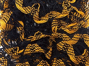 Fiber Content 100% Acrylic, Brand Ice Yarns, Dark Yellow, Black, Yarn Thickness 6 SuperBulky  Bulky, Roving, fnt2-25157