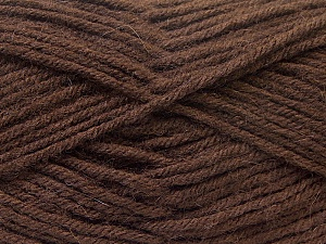 Fiber Content 70% Dralon, 30% Alpaca, Brand Ice Yarns, Dark Brown, Yarn Thickness 4 Medium  Worsted, Afghan, Aran, fnt2-25376