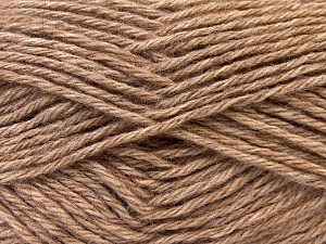 Fiber Content 70% Dralon, 30% Alpaca, Light Brown, Brand Ice Yarns, Yarn Thickness 4 Medium  Worsted, Afghan, Aran, fnt2-25671