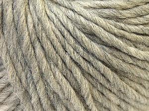 Fiber Content 100% Wool, Light Grey, Brand Ice Yarns, Yarn Thickness 5 Bulky  Chunky, Craft, Rug, fnt2-26003