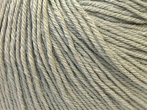 Fiber Content 40% Acrylic, 40% Merino Wool, 20% Polyamide, Light Grey, Brand Ice Yarns, Yarn Thickness 2 Fine  Sport, Baby, fnt2-26115