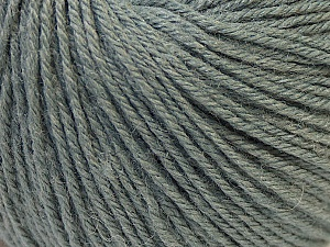 Fiber Content 40% Acrylic, 40% Merino Wool, 20% Polyamide, Brand Ice Yarns, Grey, Yarn Thickness 2 Fine  Sport, Baby, fnt2-26116