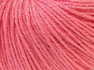 Fiber Content 40% Acrylic, 40% Merino Wool, 20% Polyamide, Salmon, Brand Ice Yarns, Yarn Thickness 2 Fine  Sport, Baby, fnt2-26119