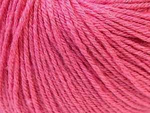 Fiber Content 40% Acrylic, 40% Merino Wool, 20% Polyamide, Pink, Brand Ice Yarns, Yarn Thickness 2 Fine  Sport, Baby, fnt2-26120