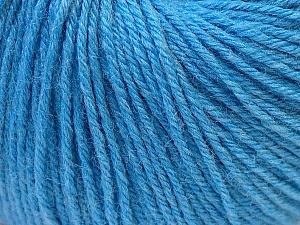 Fiber Content 40% Merino Wool, 40% Acrylic, 20% Polyamide, Light Blue, Brand Ice Yarns, Yarn Thickness 2 Fine  Sport, Baby, fnt2-26123