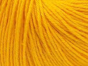 Fiber Content 40% Merino Wool, 40% Acrylic, 20% Polyamide, Yellow, Brand Ice Yarns, Yarn Thickness 2 Fine  Sport, Baby, fnt2-26127