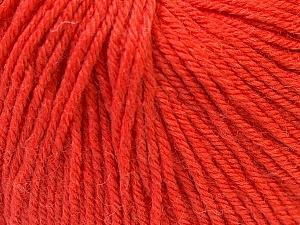 Fiber Content 40% Merino Wool, 40% Acrylic, 20% Polyamide, Orange, Brand Ice Yarns, Yarn Thickness 2 Fine  Sport, Baby, fnt2-26128