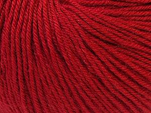 Fiber Content 40% Acrylic, 40% Merino Wool, 20% Polyamide, Brand Ice Yarns, Dark Red, Yarn Thickness 2 Fine  Sport, Baby, fnt2-26130