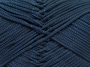 Width is 2-3 mm Fiber Content 100% Polyester, Navy, Brand Ice Yarns, fnt2-27083