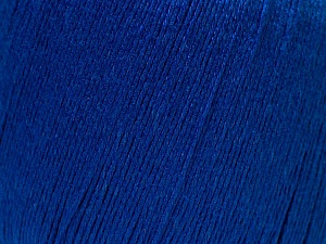 Fiber Content 50% Linen, 50% Viscose, Brand Ice Yarns, Bright Blue, Yarn Thickness 2 Fine  Sport, Baby, fnt2-27267