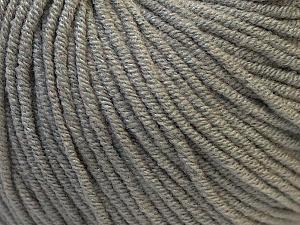 Fiber Content 50% Acrylic, 50% Cotton, Brand Ice Yarns, Grey, Yarn Thickness 3 Light  DK, Light, Worsted, fnt2-27351
