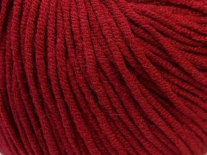 Fiber Content 50% Acrylic, 50% Cotton, Brand Ice Yarns, Burgundy, Yarn Thickness 3 Light  DK, Light, Worsted, fnt2-27359