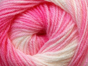 Fiber Content 100% Baby Acrylic, White, Pink Shades, Brand Ice Yarns, Yarn Thickness 2 Fine  Sport, Baby, fnt2-29602