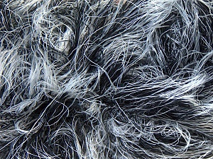 Fiber Content 100% Polyamide, White, Brand Ice Yarns, Black, Yarn Thickness 5 Bulky  Chunky, Craft, Rug, fnt2-30834