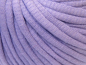 This is a tube-like yarn with soft cotton fleece filled inside. Fiber Content 70% Cotton, 30% Polyester, Light Lilac, Brand Ice Yarns, Yarn Thickness 5 Bulky  Chunky, Craft, Rug, fnt2-32500