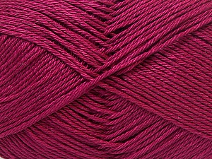 Fiber Content 100% Mercerised Cotton, Brand Ice Yarns, Dark Fuchsia, Yarn Thickness 2 Fine  Sport, Baby, fnt2-32545