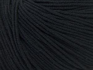 Fiber Content 60% Cotton, 40% Acrylic, Brand Ice Yarns, Black, Yarn Thickness 2 Fine  Sport, Baby, fnt2-32555