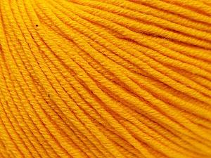 Fiber Content 60% Cotton, 40% Acrylic, Yellow, Brand Ice Yarns, Yarn Thickness 2 Fine  Sport, Baby, fnt2-32559