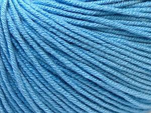 Fiber Content 60% Cotton, 40% Acrylic, Light Blue, Brand Ice Yarns, Yarn Thickness 2 Fine  Sport, Baby, fnt2-32560