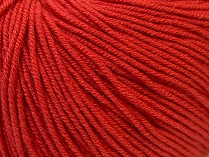 Fiber Content 60% Cotton, 40% Acrylic, Tomato Red, Brand Ice Yarns, Yarn Thickness 2 Fine  Sport, Baby, fnt2-32567