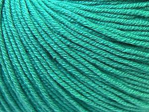 Fiber Content 60% Cotton, 40% Acrylic, Brand Ice Yarns, Emerald Green, Yarn Thickness 2 Fine  Sport, Baby, fnt2-32623