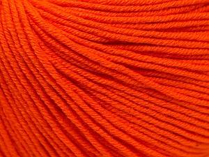 Fiber Content 60% Cotton, 40% Acrylic, Orange, Brand Ice Yarns, Yarn Thickness 2 Fine  Sport, Baby, fnt2-32824
