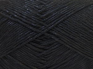 Fiber Content 50% Polyester, 50% Cotton, Brand Ice Yarns, Black, Yarn Thickness 2 Fine  Sport, Baby, fnt2-33038