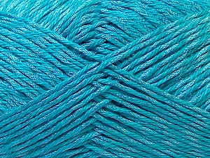 Fiber Content 50% Polyester, 50% Cotton, Turquoise, Brand Ice Yarns, Yarn Thickness 2 Fine  Sport, Baby, fnt2-33051