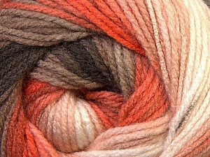 Fiber Content 100% Acrylic, White, Orange, Brand Ice Yarns, Camel, Brown, Yarn Thickness 3 Light  DK, Light, Worsted, fnt2-33055