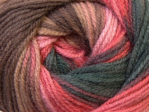 Fiber Content 100% Acrylic, Pink Shades, Brand Ice Yarns, Brown Shades, Yarn Thickness 3 Light  DK, Light, Worsted, fnt2-33056