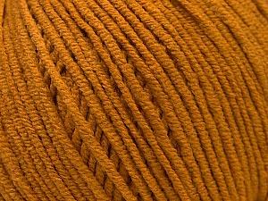 Fiber Content 50% Acrylic, 50% Cotton, Brand Ice Yarns, Dark Gold, Yarn Thickness 3 Light  DK, Light, Worsted, fnt2-33059