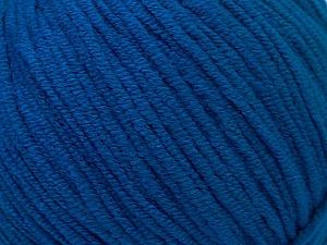 Fiber Content 50% Acrylic, 50% Cotton, Brand Ice Yarns, Bright Blue, Yarn Thickness 3 Light  DK, Light, Worsted, fnt2-33064