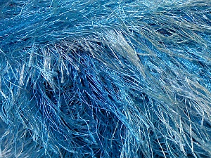 Fiber Content 100% Polyester, Brand Ice Yarns, Blue Shades, Yarn Thickness 5 Bulky  Chunky, Craft, Rug, fnt2-33974