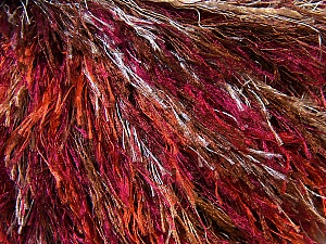 Fiber Content 100% Polyester, White, Red, Purple, Brand Ice Yarns, Brown, Yarn Thickness 5 Bulky  Chunky, Craft, Rug, fnt2-34128