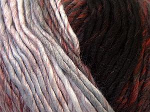 Fiber Content 60% Wool, 40% Acrylic, Brand Ice Yarns, Grey, Burgundy, Brown, Black, Yarn Thickness 4 Medium  Worsted, Afghan, Aran, fnt2-34603