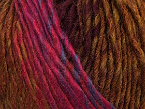 Fiber Content 60% Wool, 40% Acrylic, Pink, Brand Ice Yarns, Green, Brown, Blue, Yarn Thickness 4 Medium  Worsted, Afghan, Aran, fnt2-34604
